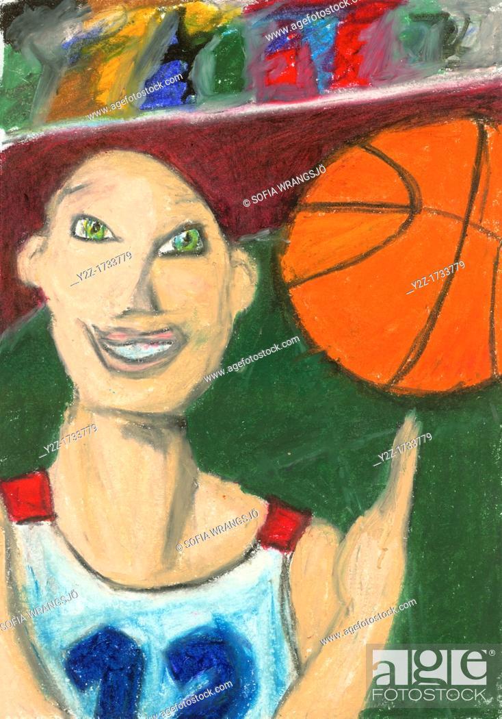 Stock Photo: Happy basketball player.