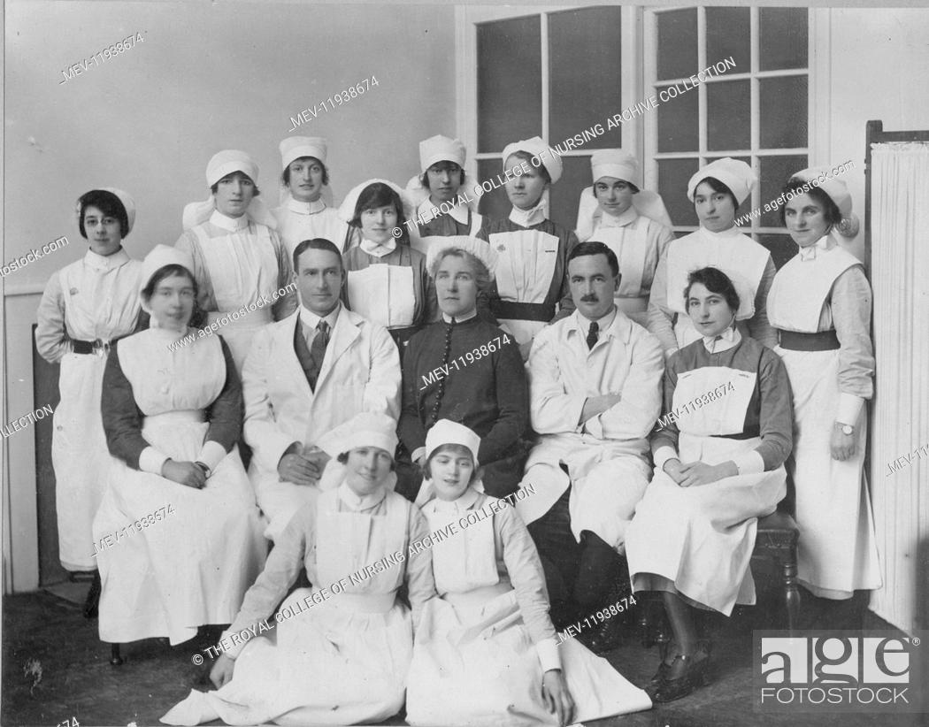 Formal group of ward staff, St Peter's Hospital, including
