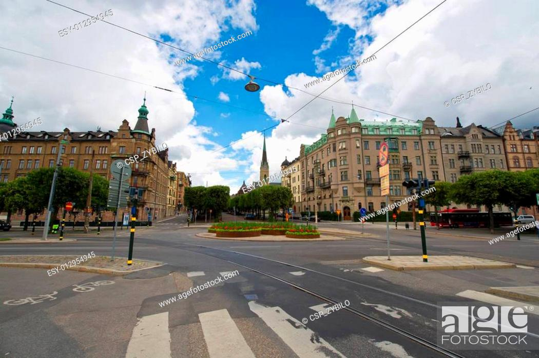 Stock Photo: Stockholm. A view to the historic buildings in the old town.
