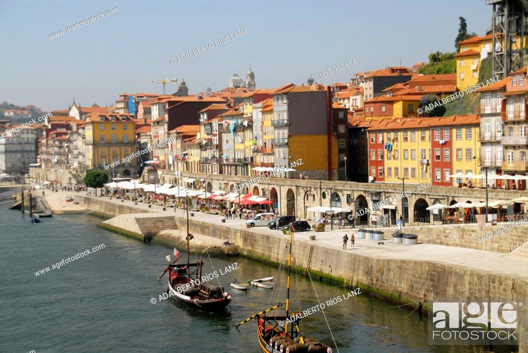 Stock Photo: Riverfront, Porto, Portugal.