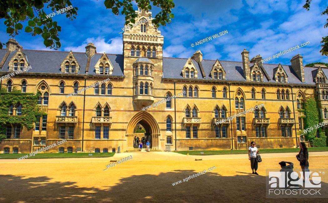 Stock Photo: Christ Church College, Oxford, England, UK.