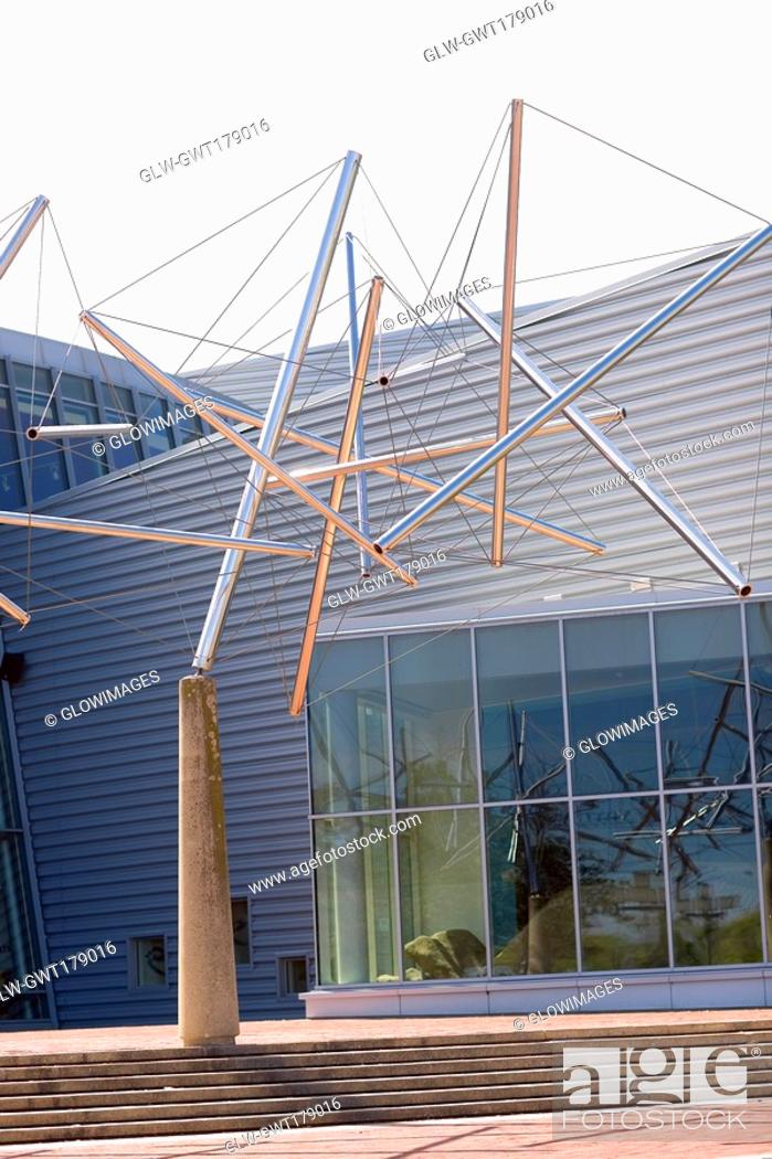 Stock Photo: Sculptures in front of a building, Maryland Science Center, Baltimore, Maryland, USA.