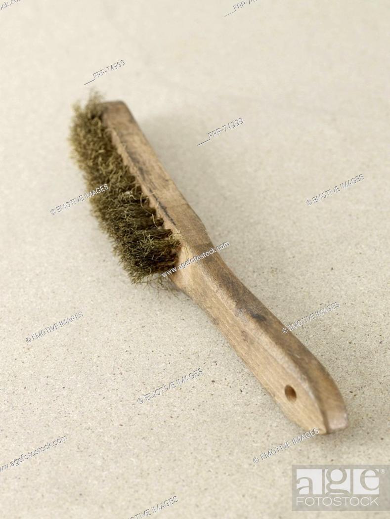 Stock Photo: Wire brush.
