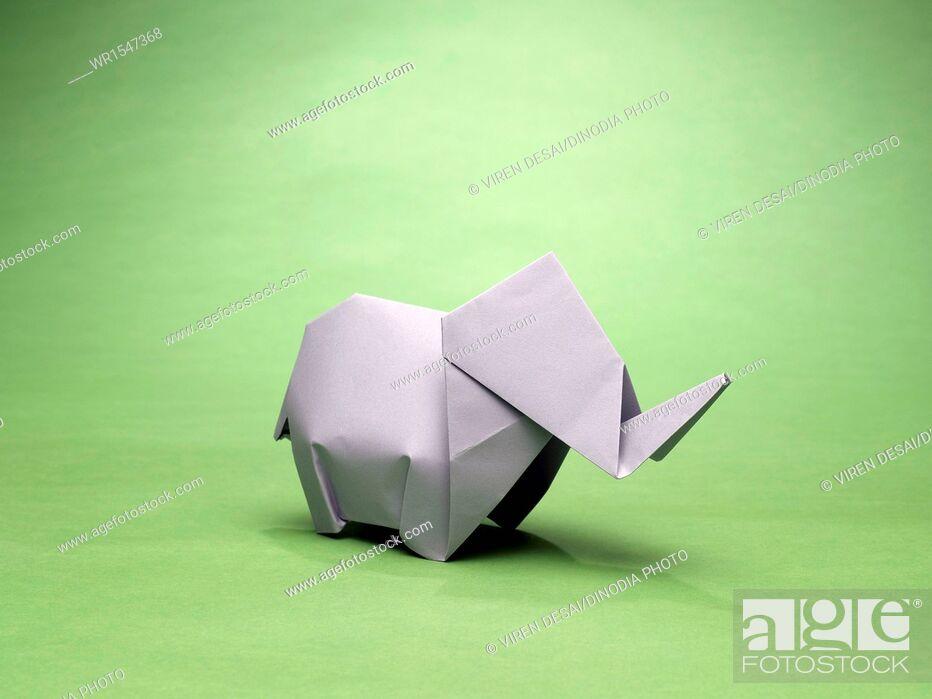 Imagen: origami elephant India Asia.