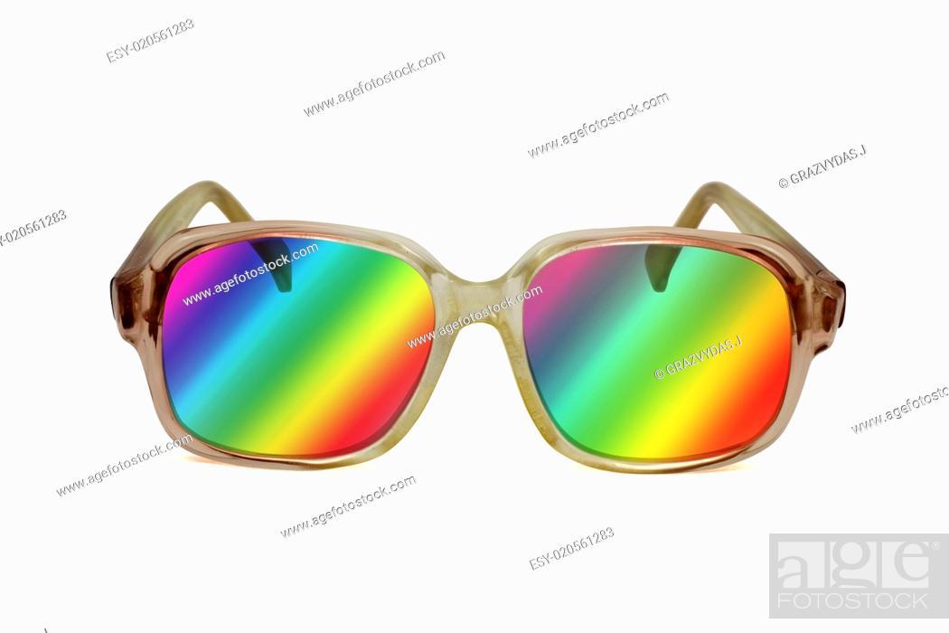 Stock Photo: retro colored sunglasses.