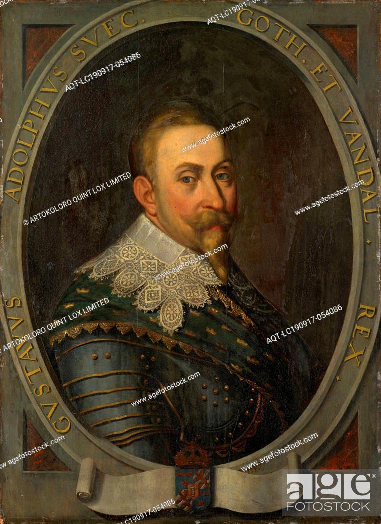 Imagen: Portrait of Gustav Adolf, King of Sweden, oil on panel, 91 x 66.5 cm, Signed lower right in an oval frame: Io Plep., Transcript of the frame: GVSTAVVS ADOLPHVS.