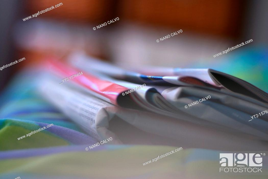Stock Photo: Magazines and newspapers.