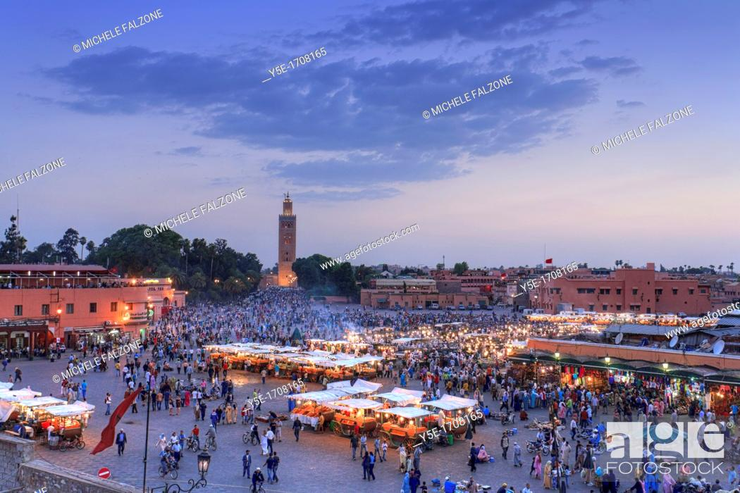 Stock Photo: Morocco, Marrakech, Djemaa el-Fna Square.