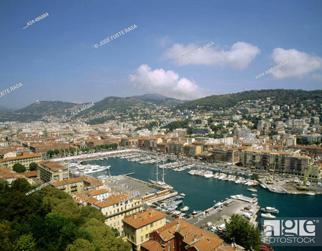 Stock Photo: Old Harbour. Nice, French Riviera. France.