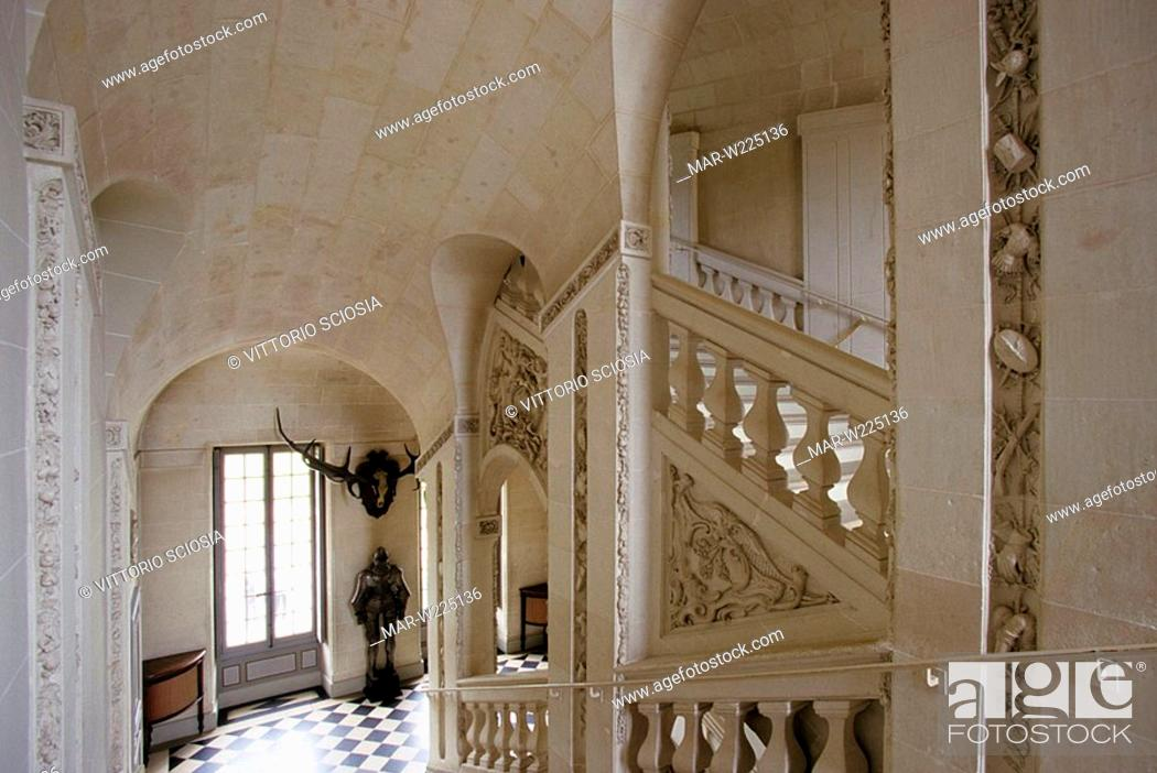 Stock Photo: europe, france, loire valley, chateau de cheverny.