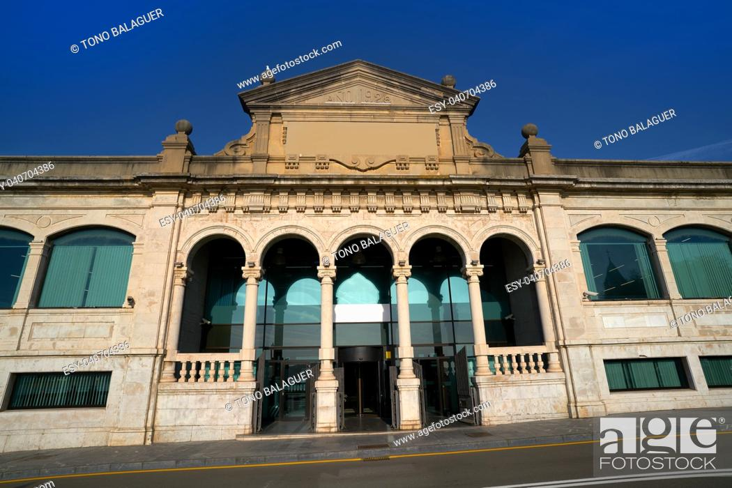 Stock Photo: Gijon old fish market in Asturias Spain.