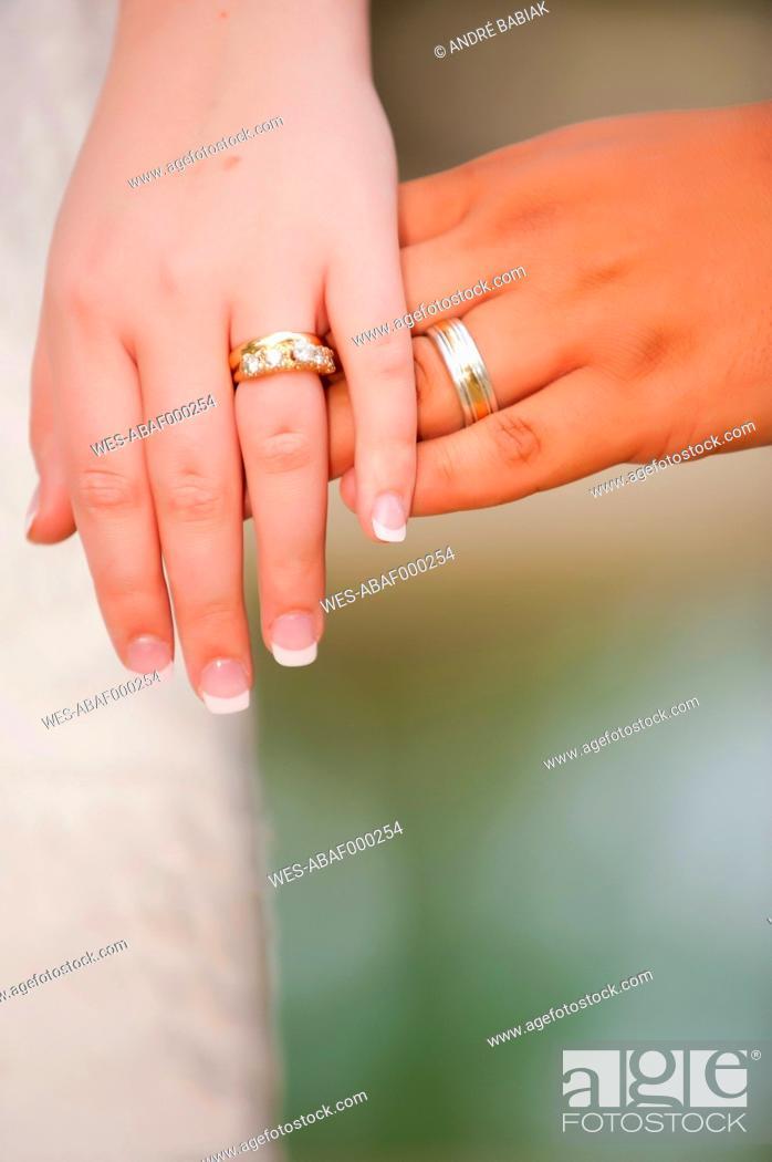 Stock Photo: USA, Texas, Close up wedding rings.