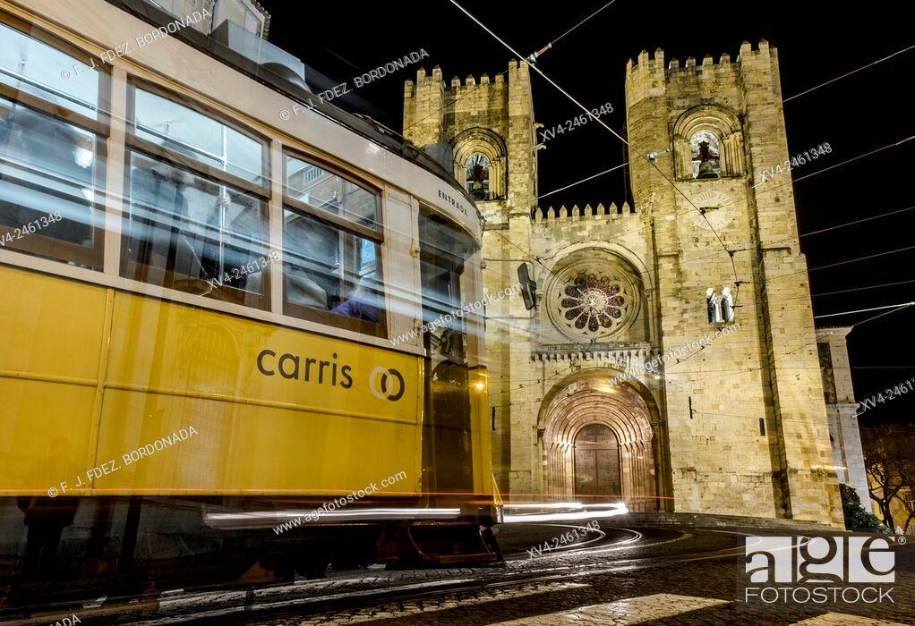 Stock Photo: Se Cathedral, Alfama, Lisbon, Portugal.