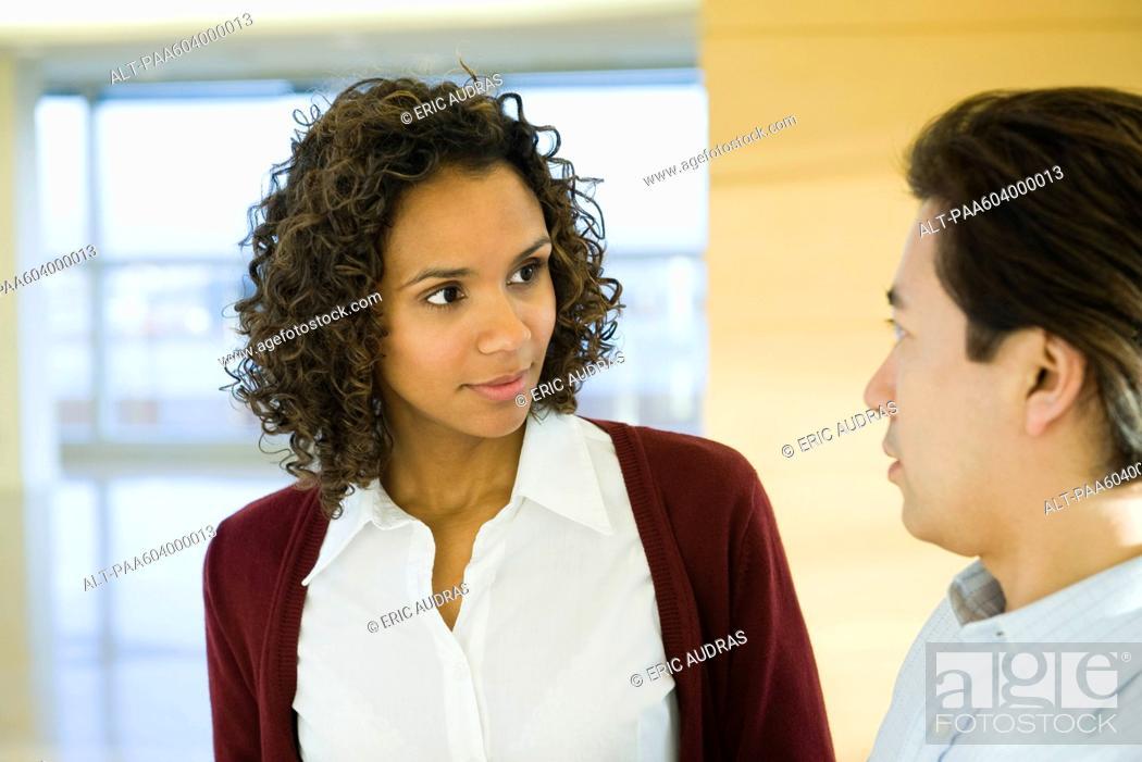 Stock Photo: Executives having conversation.