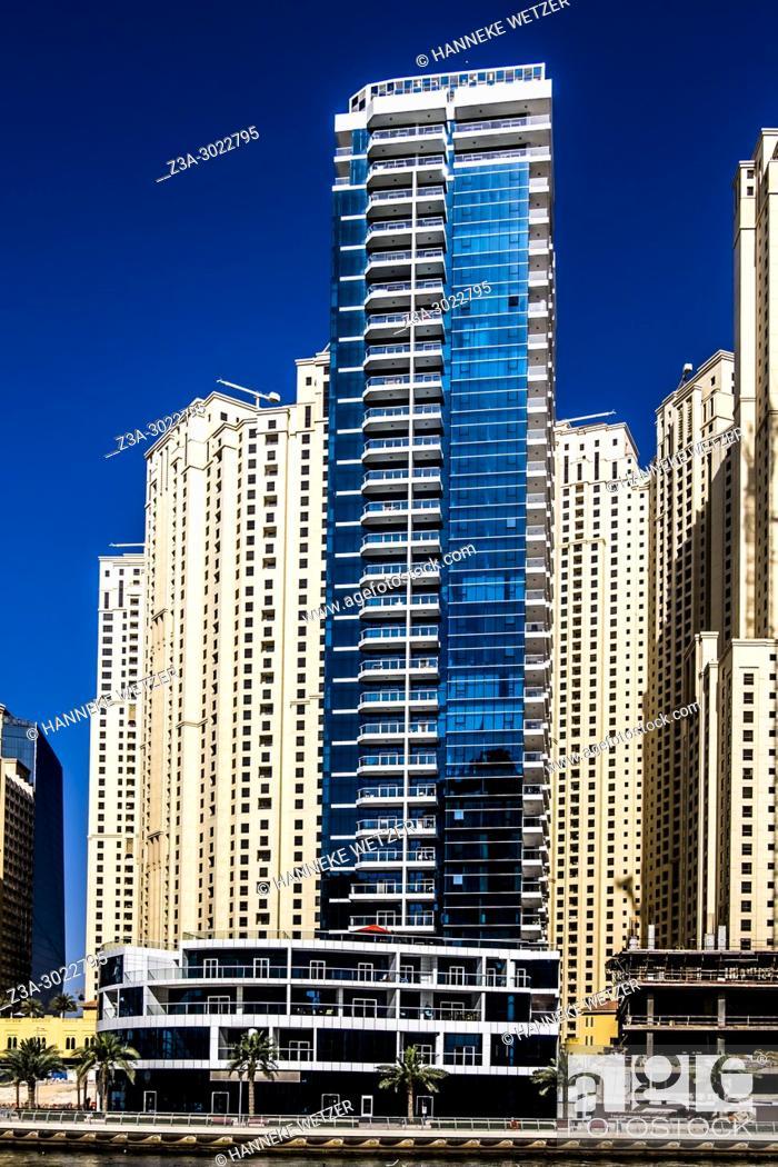 Stock Photo: 5 Star The Address Dubai Marina Hotels in Dubai City, United Arab Emirates.