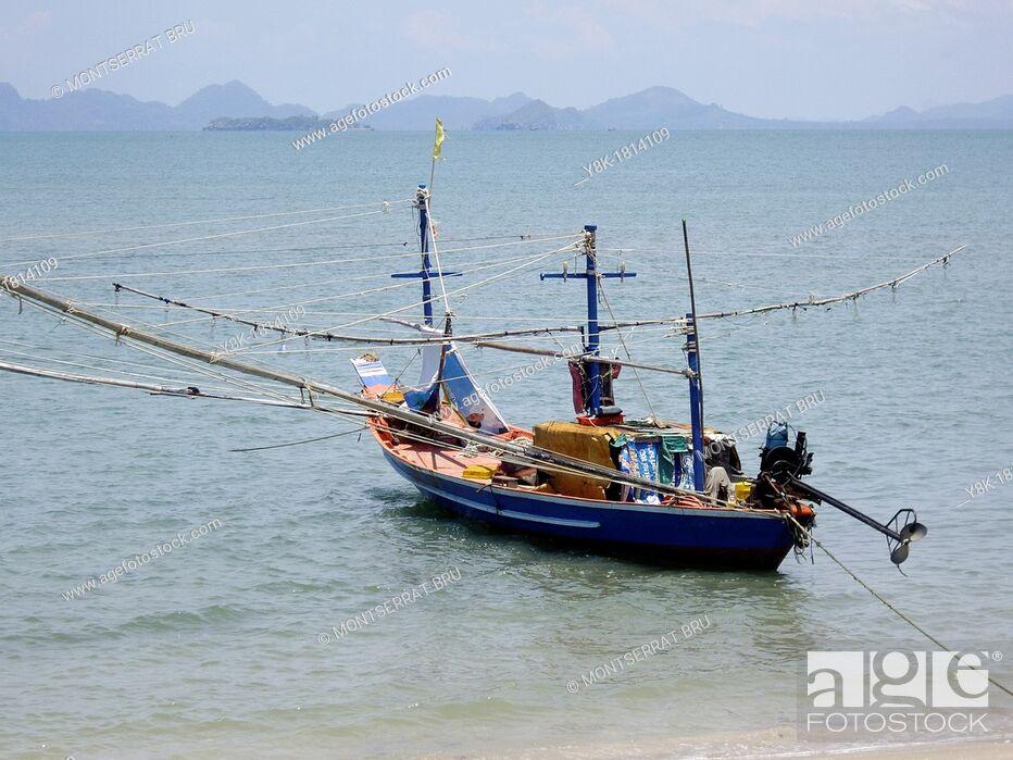 Stock Photo: Traditional Thai fishing boat.