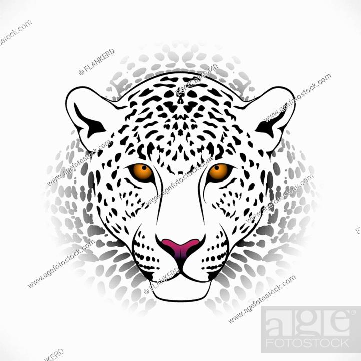 dc3333ac6 Vector leopard executed in the form of a tribal tattoo, Stock Vector ...