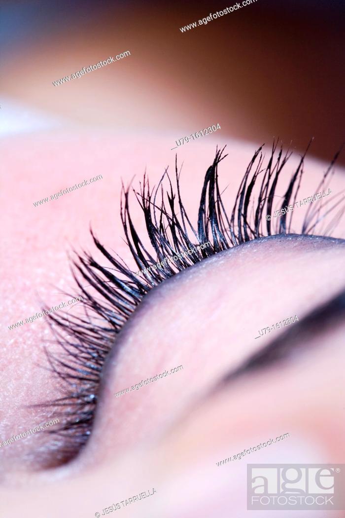 Stock Photo: Tab makeup woman,.