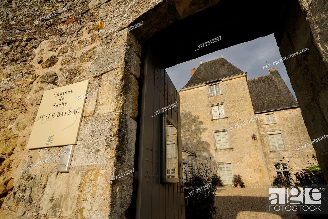 Stock Photo: France, Indre et Loire, Sache castle, Balzac museum.