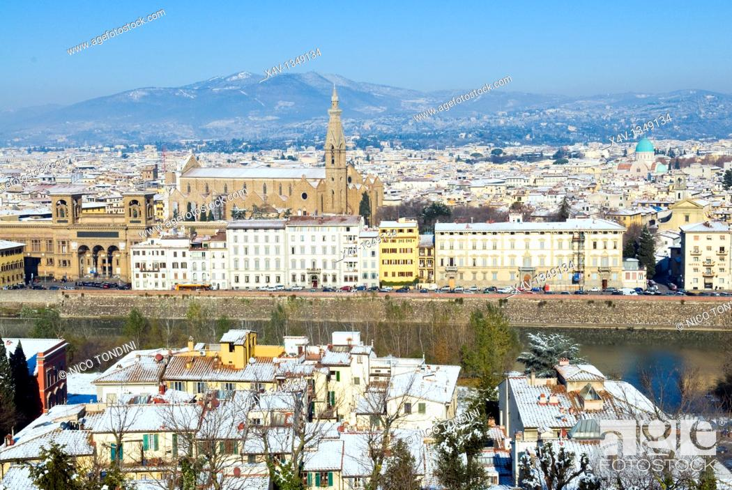landscape of florence from piazzale michelangelo firenze florence