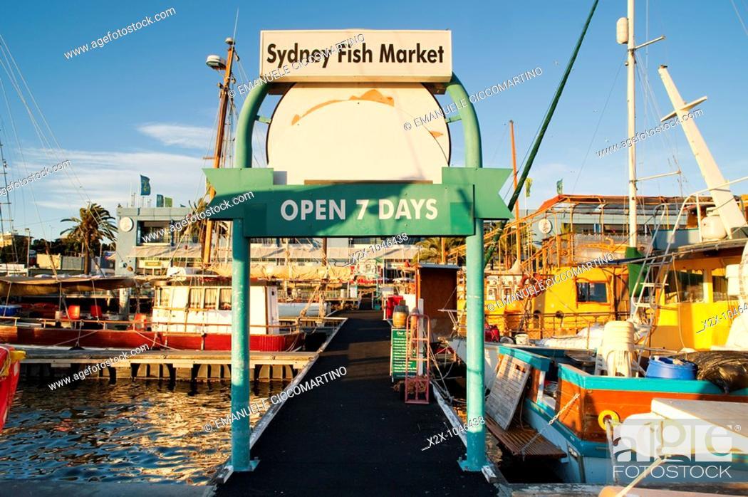 Stock Photo: Fish Market piers, Sydney, New South Wales, Australia.