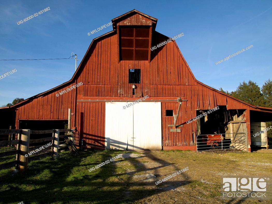 Stock Photo: Red Barn.