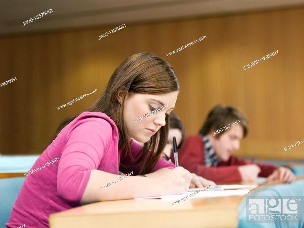 Stock Photo: Student in lecture room.