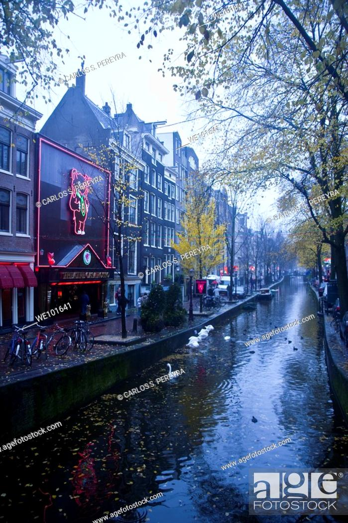 Stock Photo: View in Amsterdam, Netherlands.