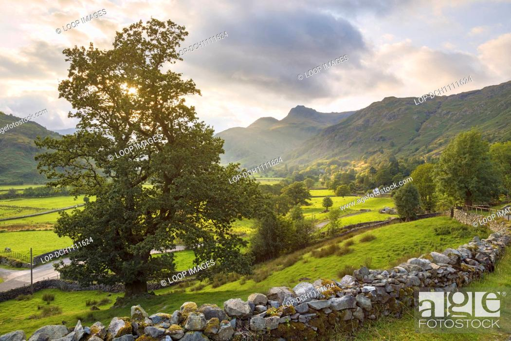 Stock Photo: Langdale Pikes in the English Lake District.