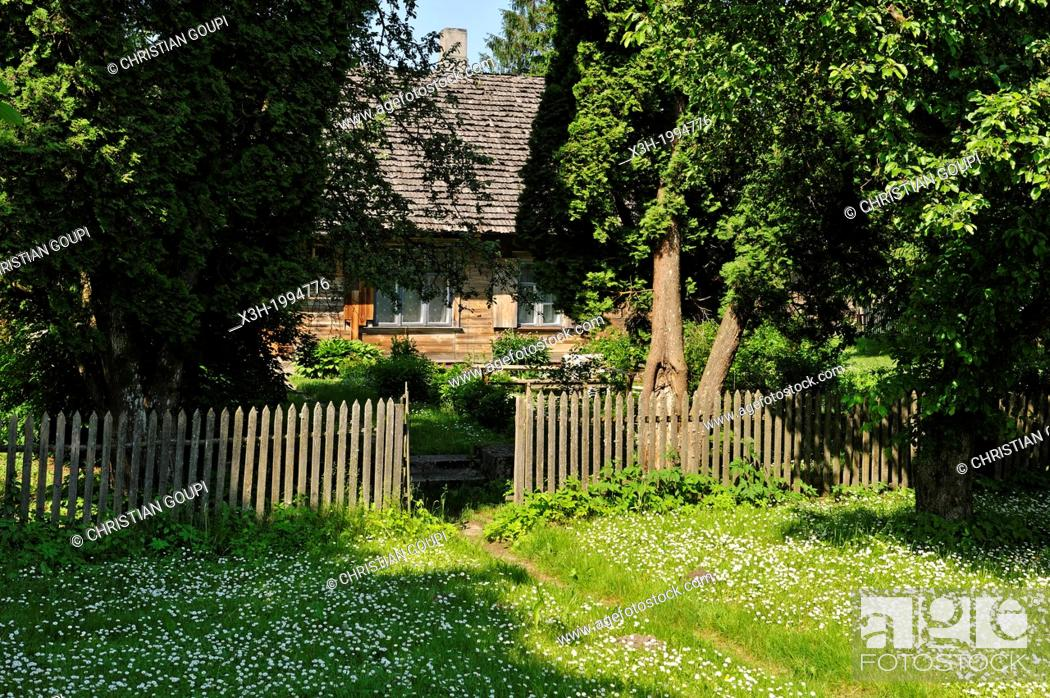 Stock Photo: house at Turaida, Sigulda, Gauja National Park, Vidzeme Region, Latvia, Baltic region, Northern Europe.