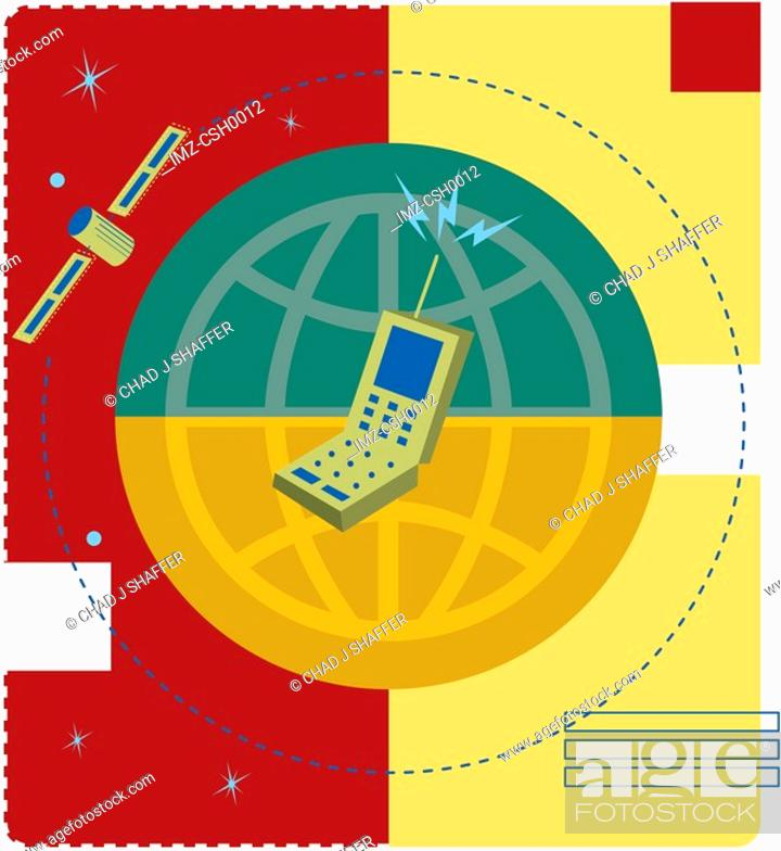 Stock Photo: A graphic representation of global communication.