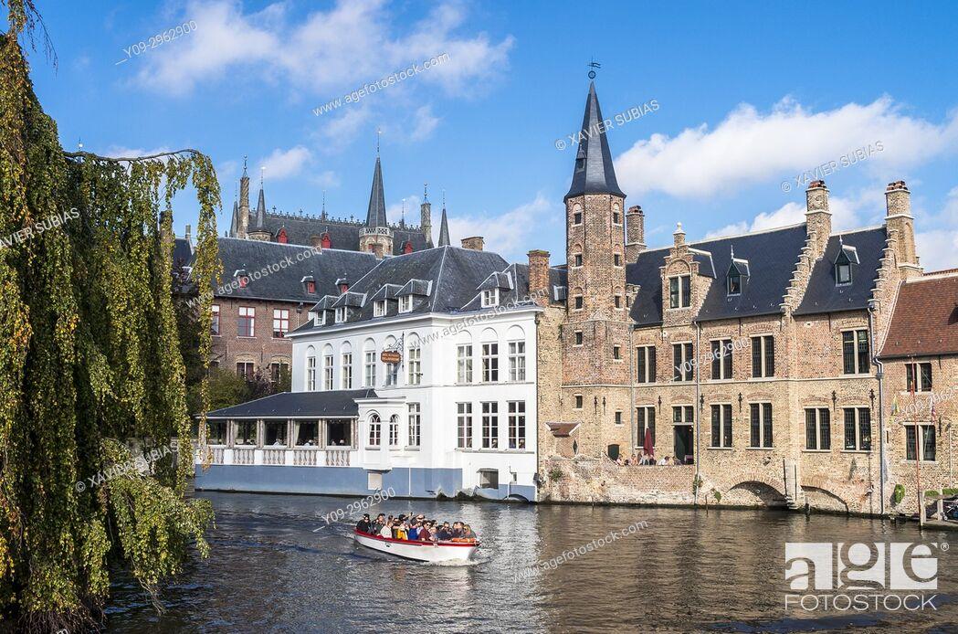 Imagen: Canal, Bruges, Belgium.