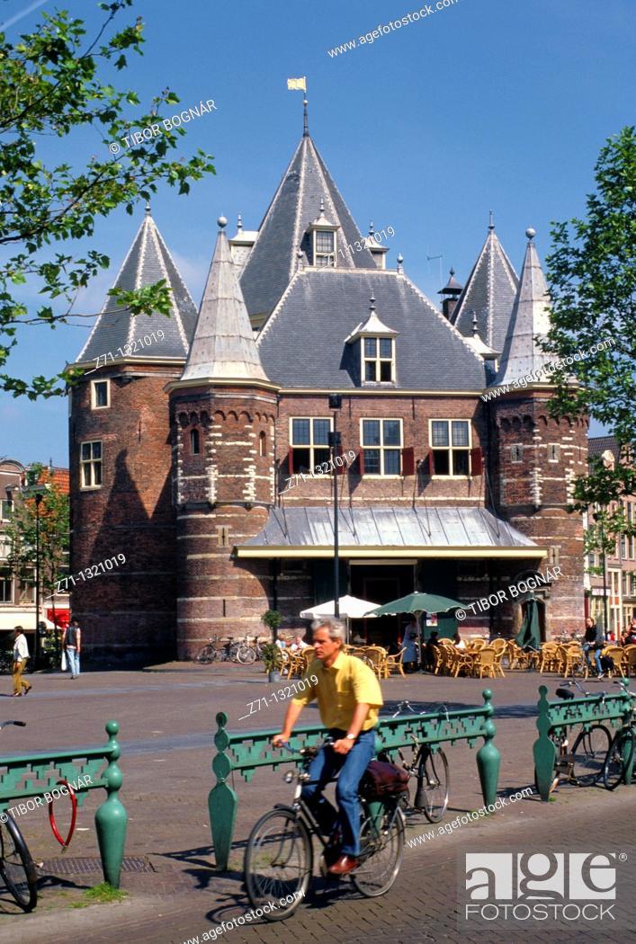 Stock Photo: Netherlands, Amsterdam, Nieuwmarkt.