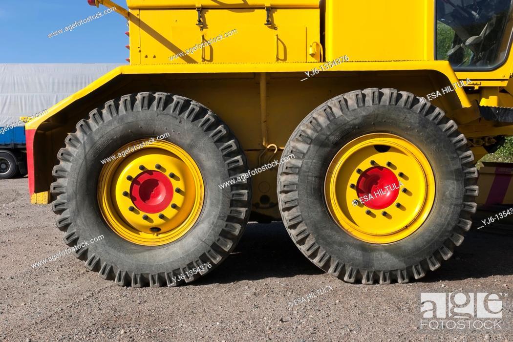 Stock Photo: truck tyres.