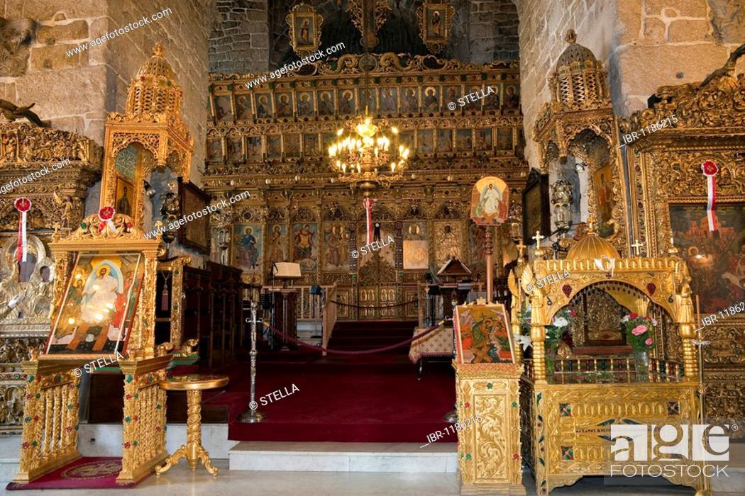 Ceremonial Ikonostasis in Lazarus Church, Agios Lazaros, Larnaca ...