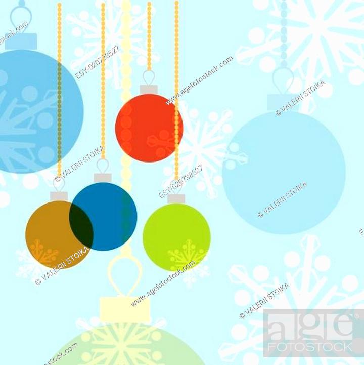 Stock Vector: christmas balls.