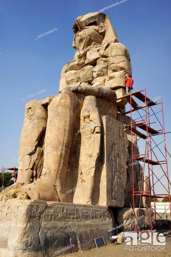 Imagen: Memnon Colossus, Luxor, West Bank Egypt.