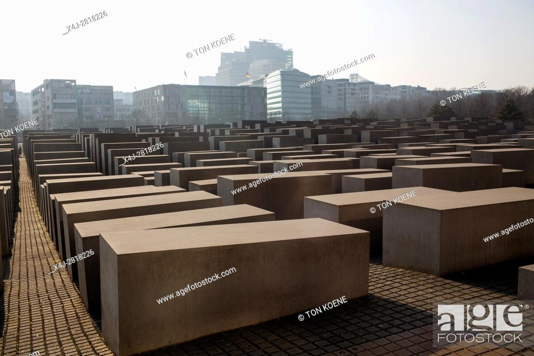 Stock Photo: Memorial to the Murdered Jews of Europe in Berlin.