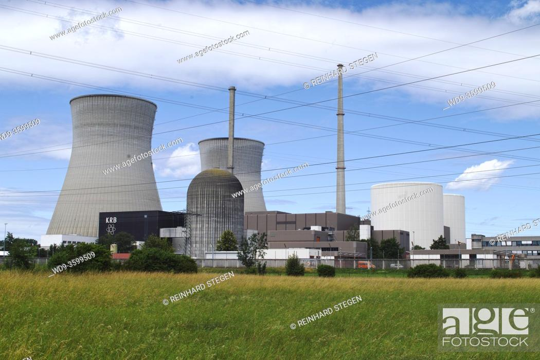 Imagen: nuclear power plant Gundremmingen, former biggest German nuclear power plant.