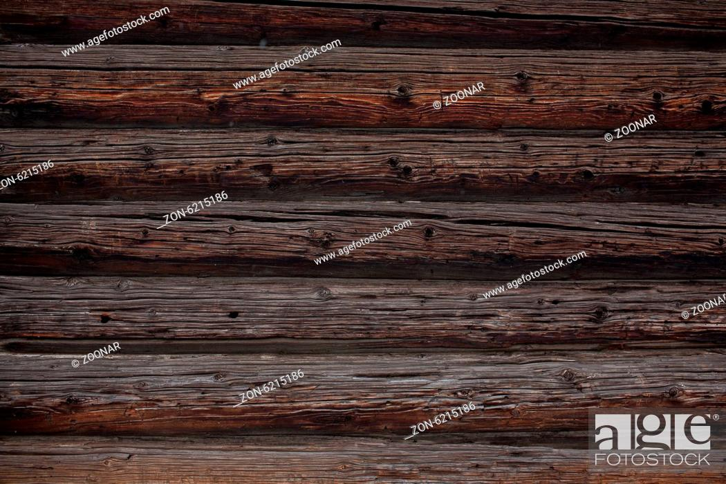 Stock Photo: background of the log wall.