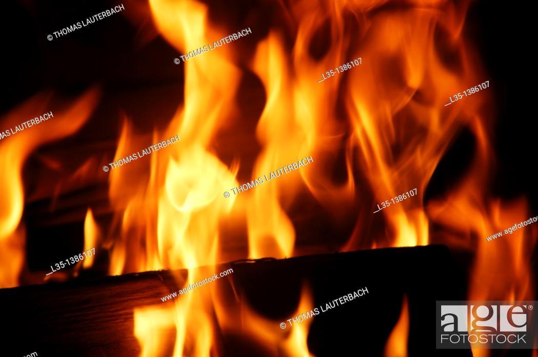 Stock Photo: Fireplace.
