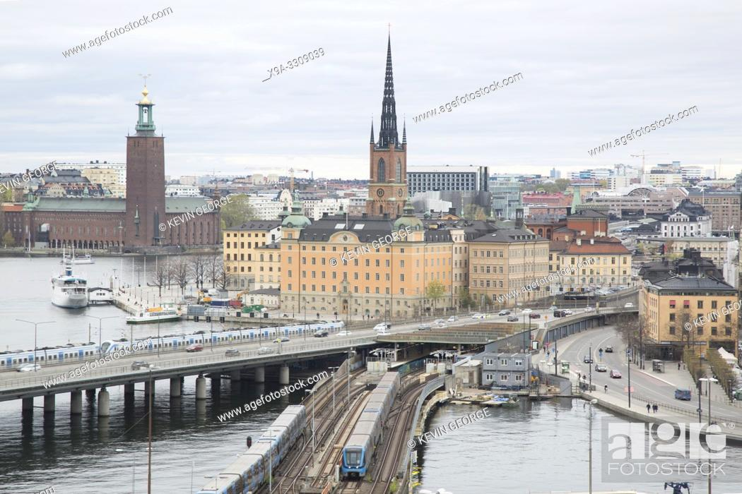 Stock Photo: Cityscape of Stockholm; Sweden, Europe.