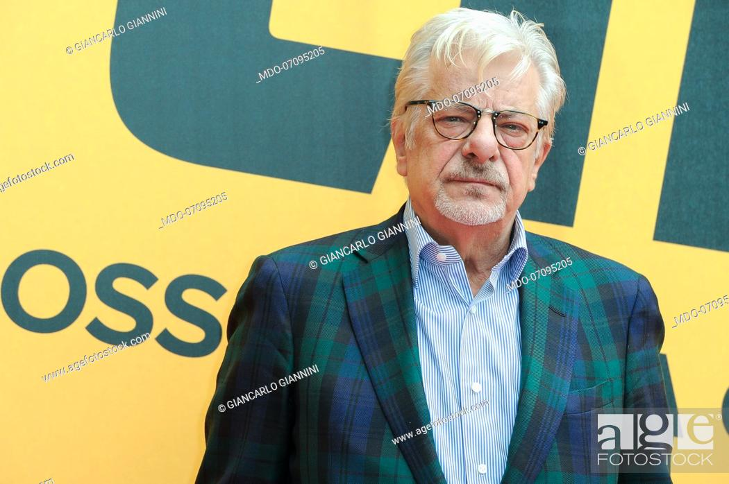 Stock Photo: Italian actor and director Giancarlo Giannini attends the Sky TV series Catch-22 photocall. Rome (Italy), May 13th, 2019.