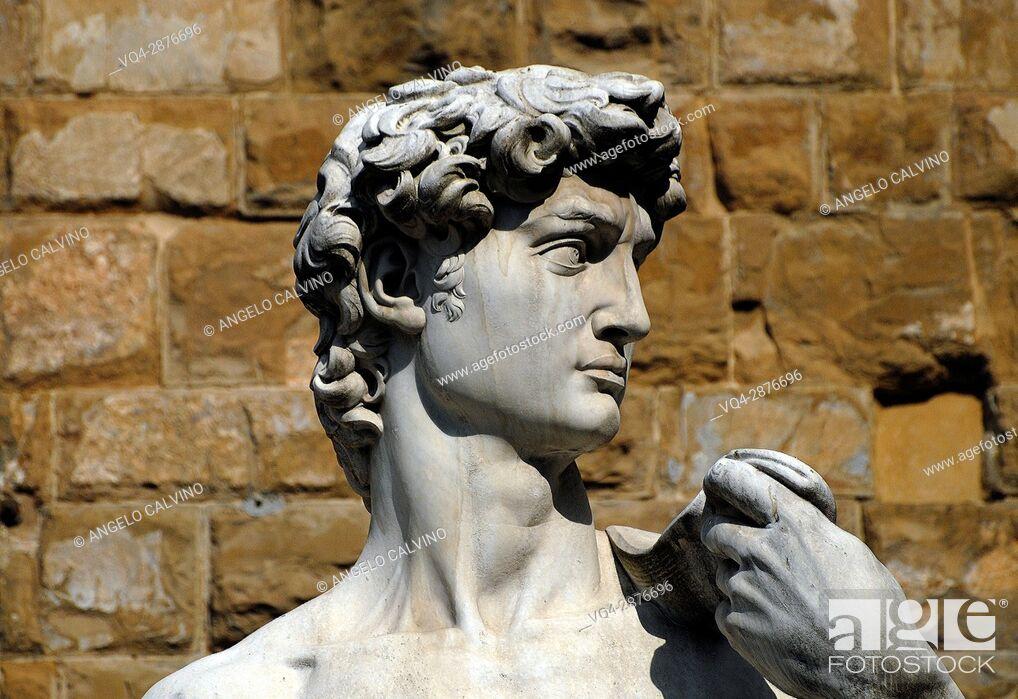 Imagen: Statue of David at Piazza della Signoria in Florence, Tuscany, Italy.