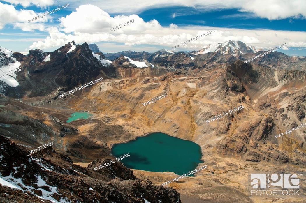 Stock Photo: Cordille Real from Austria peak. Bolivia. South America.