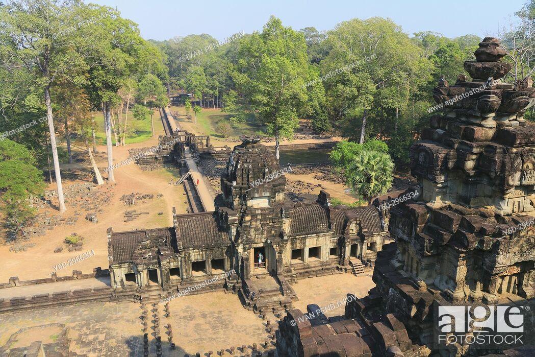 Stock Photo: The Baphuon, Angkor Thom, Cambodia.