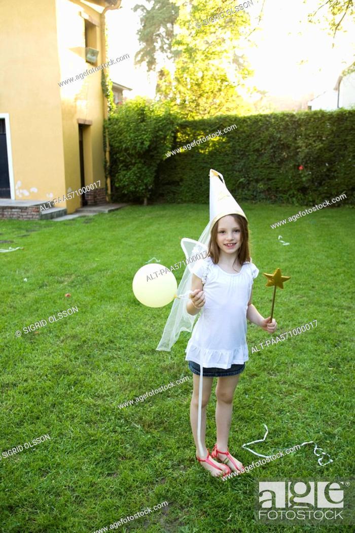 Stock Photo: Girl in costume.
