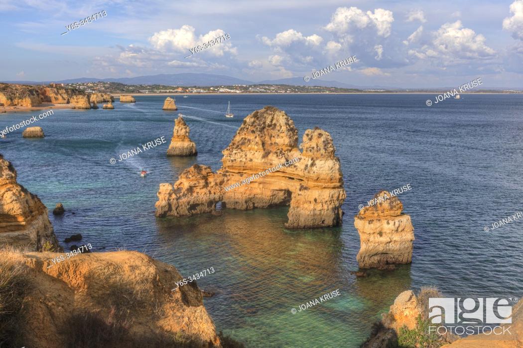 Stock Photo: Praia do Camilo, Lagos, Algrave, Portugal, Europe.