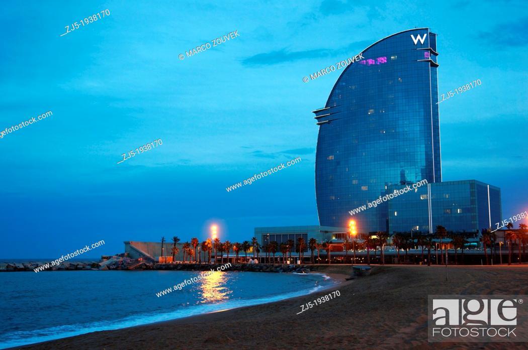 Stock Photo: Hotel W Barcelona. Barcelona city Spain.