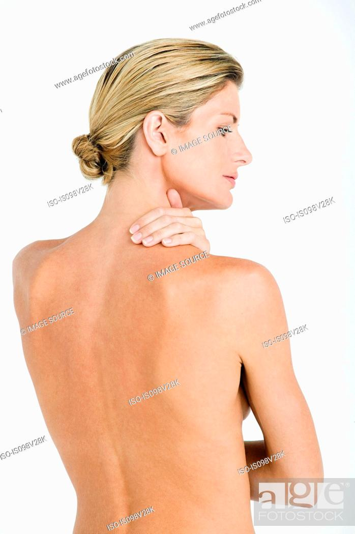 Stock Photo: Nude woman's back.